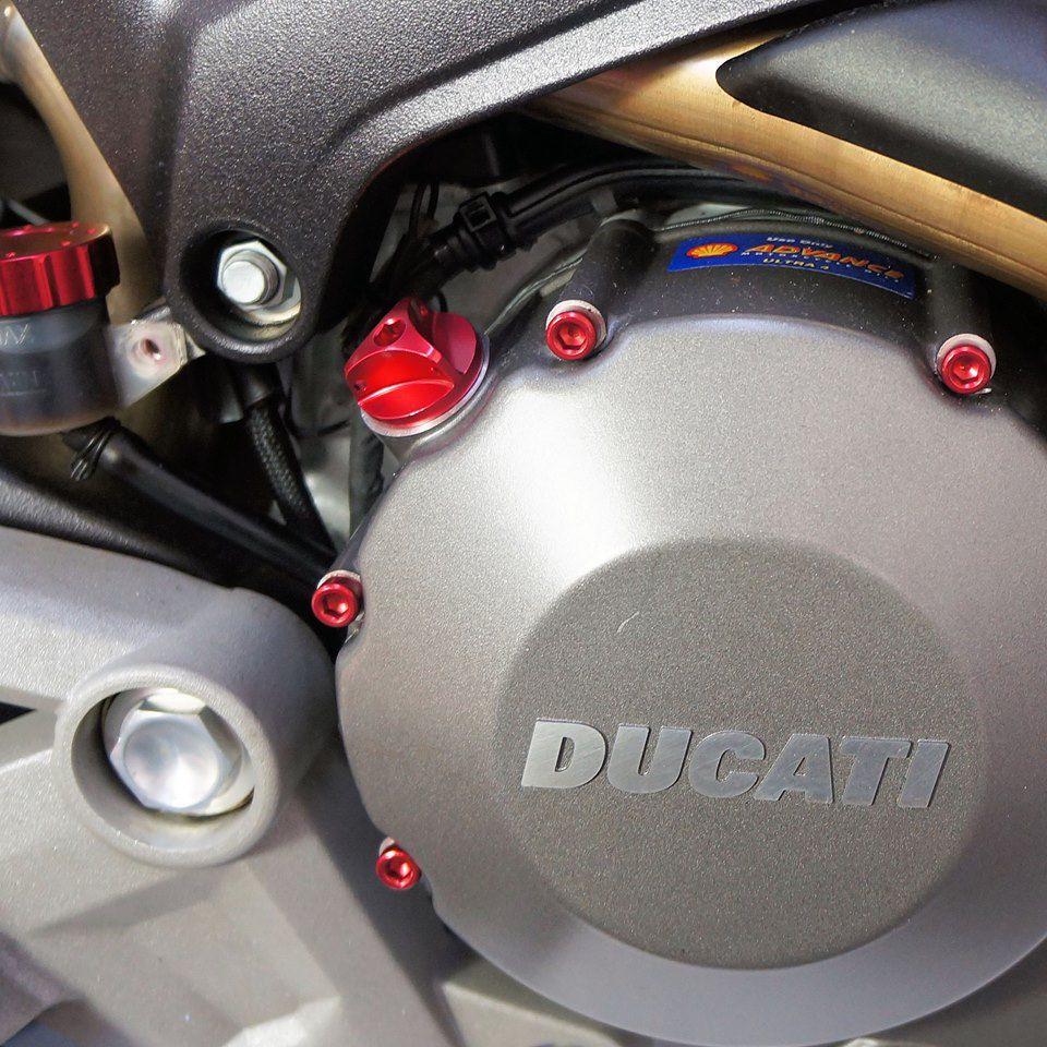 Parafusos da tampa do motor Suzuki GSX1300 Haybusa 08+ Vermelho