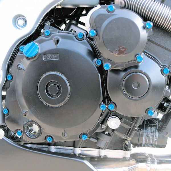 Parafusos da tampa do motor Suzuki GSXR1000 09-11 Azul