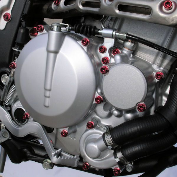 Parafusos da tampa do motor Suzuki GSXR1000 09-11 Vermelho