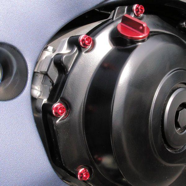 Parafusos da tampa do motor Yamaha R1 BigBang 09+ Vermelho