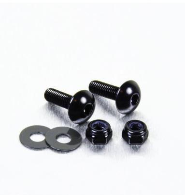 Parafusos de placa ProBolt Alumínio 2 Unidades Preto