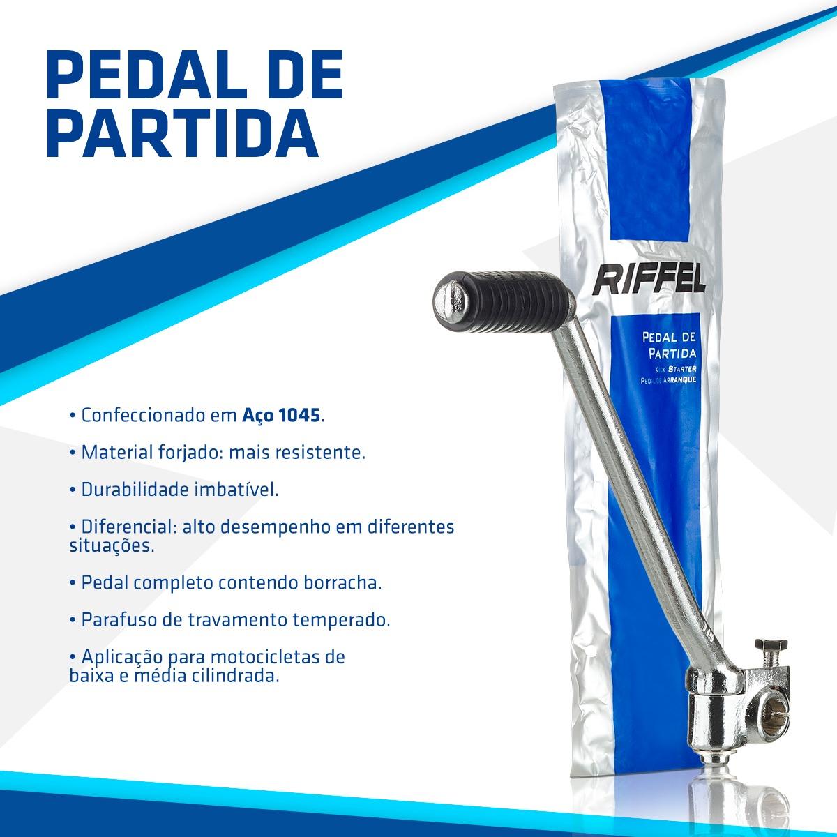 PEDAL DE PARTIDA TITAN CG 125 (00-) / NXR 125 BROS (03-05) / AKT 125