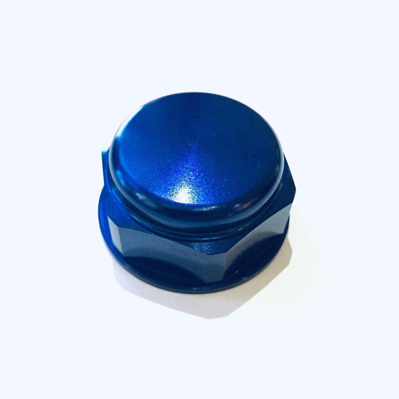 Porca central da mesa 22mm x 1.00mm Fechada Azul