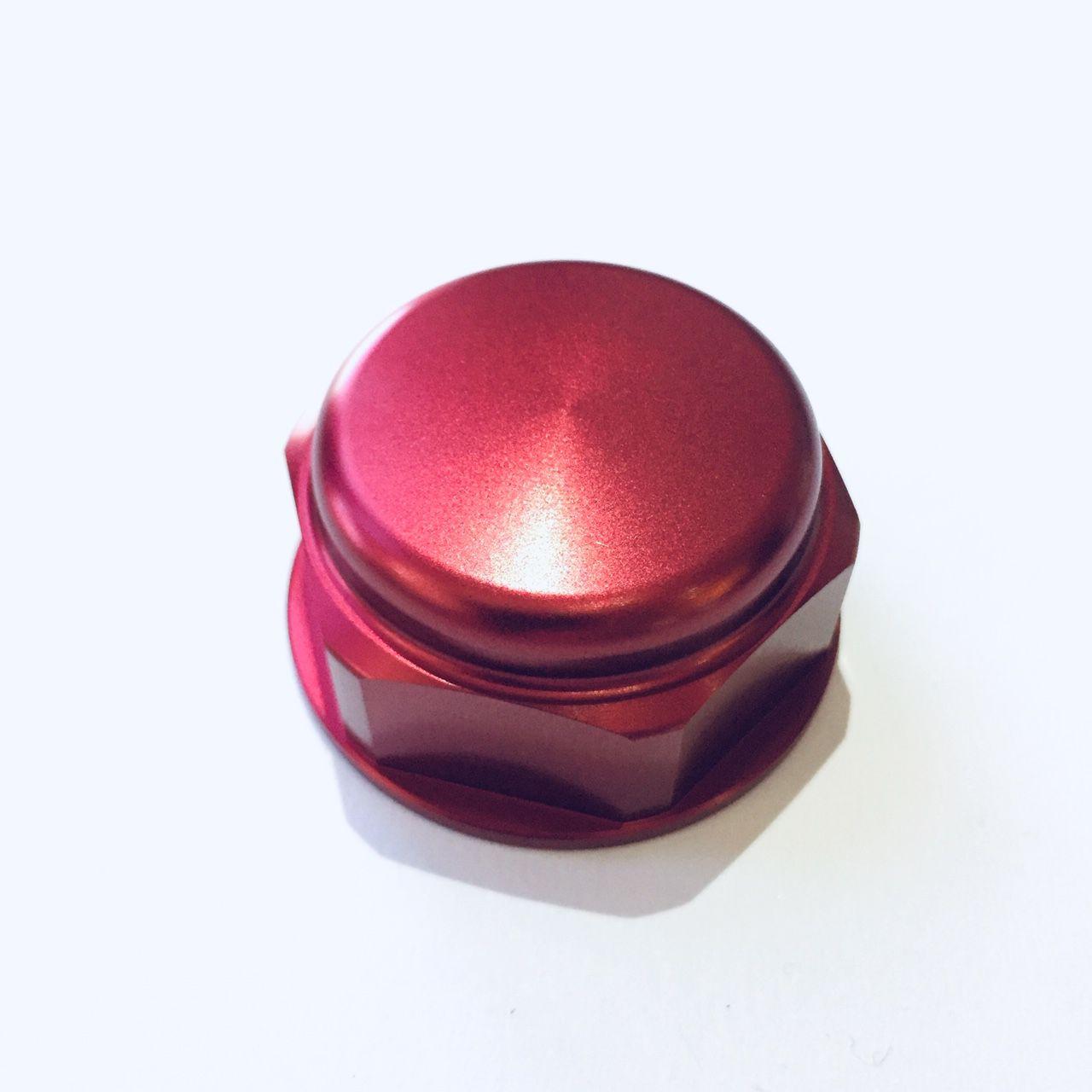 Porca central da mesa 22mm x 1.00mm Fechada Vermelho