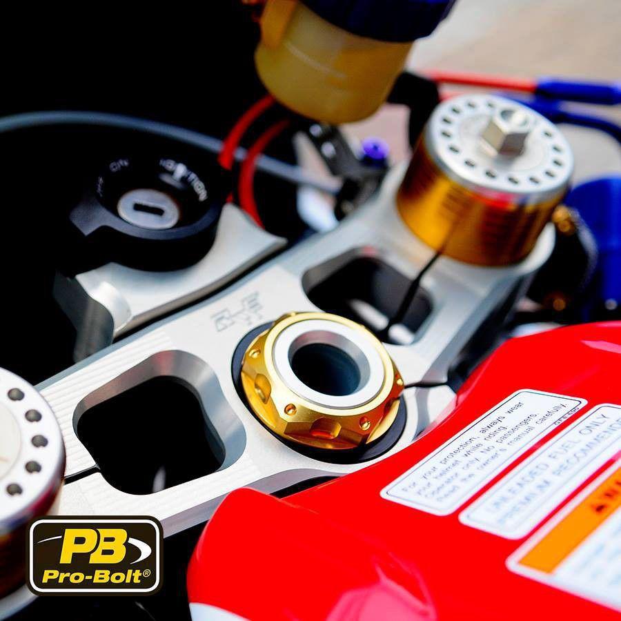 Porca central da mesa 22mm x 1.00mm Vazada Yamaha / Suzuki / Kawasaki Dourado