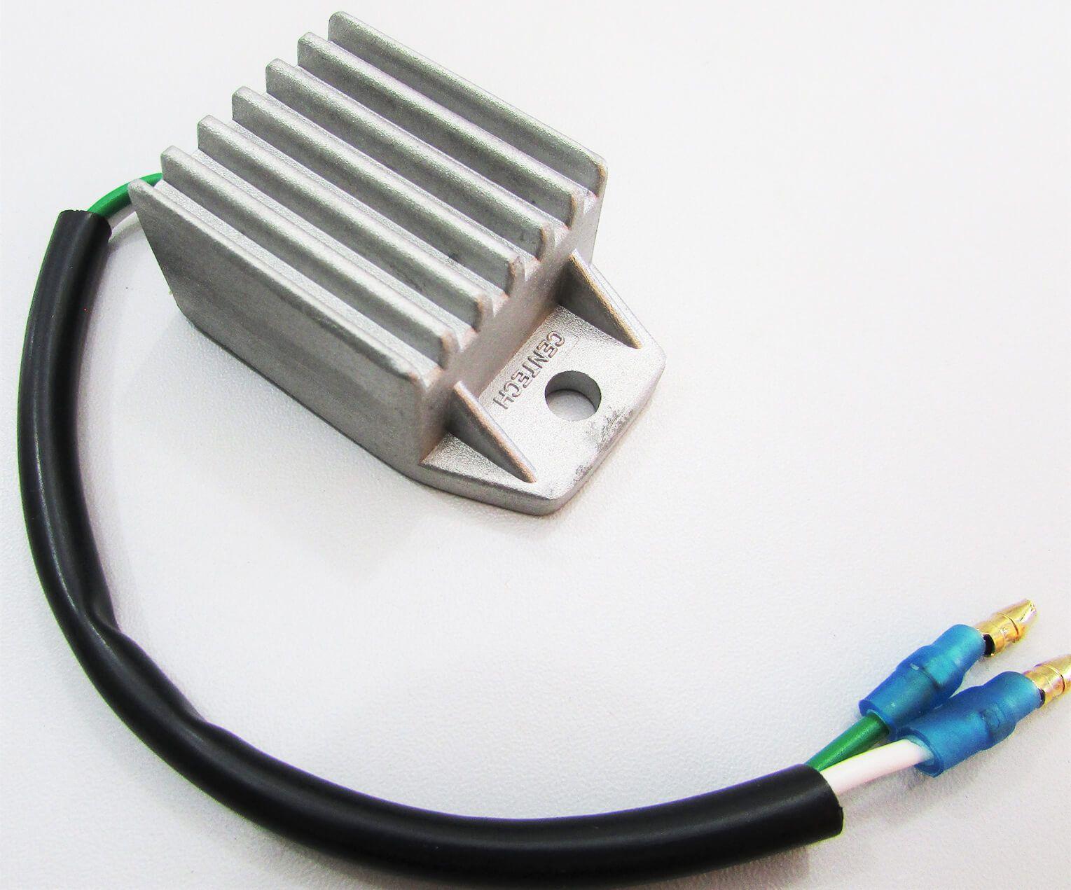 Regulador Retificador Farol Honda XL 250 R (2 fios c/ terminais macho redondo)