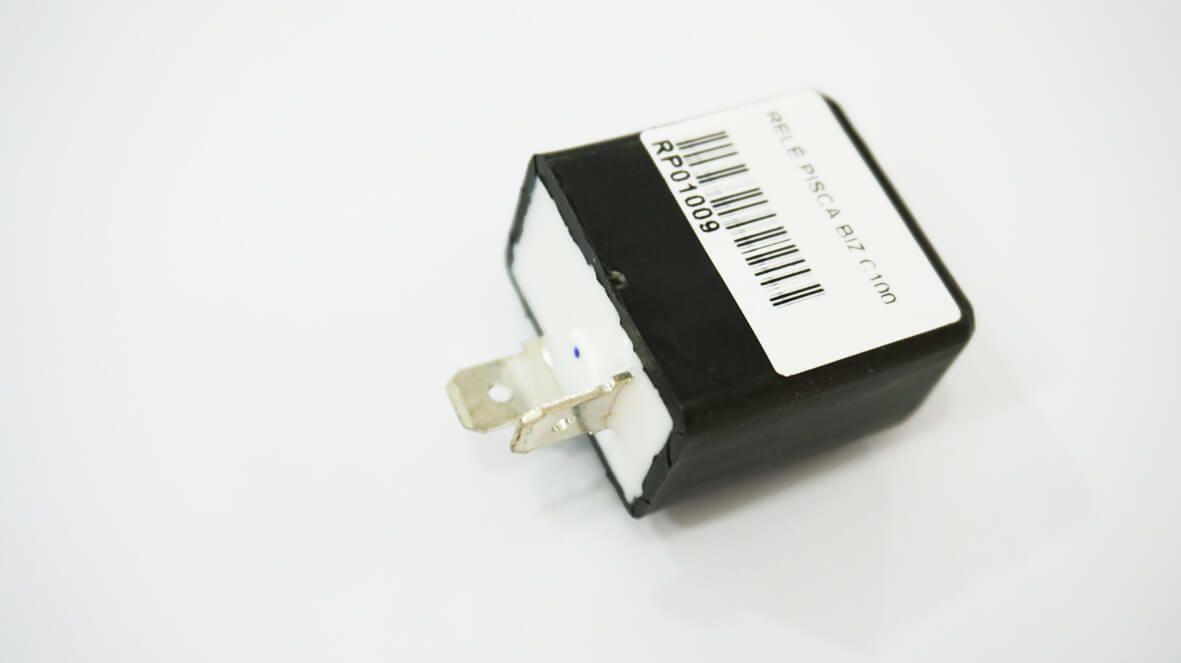 Relé de Pisca Honda CG/ ML/ TURUNA/ XL 125S/ XL/ XLX  2 terminais (eletrônico)