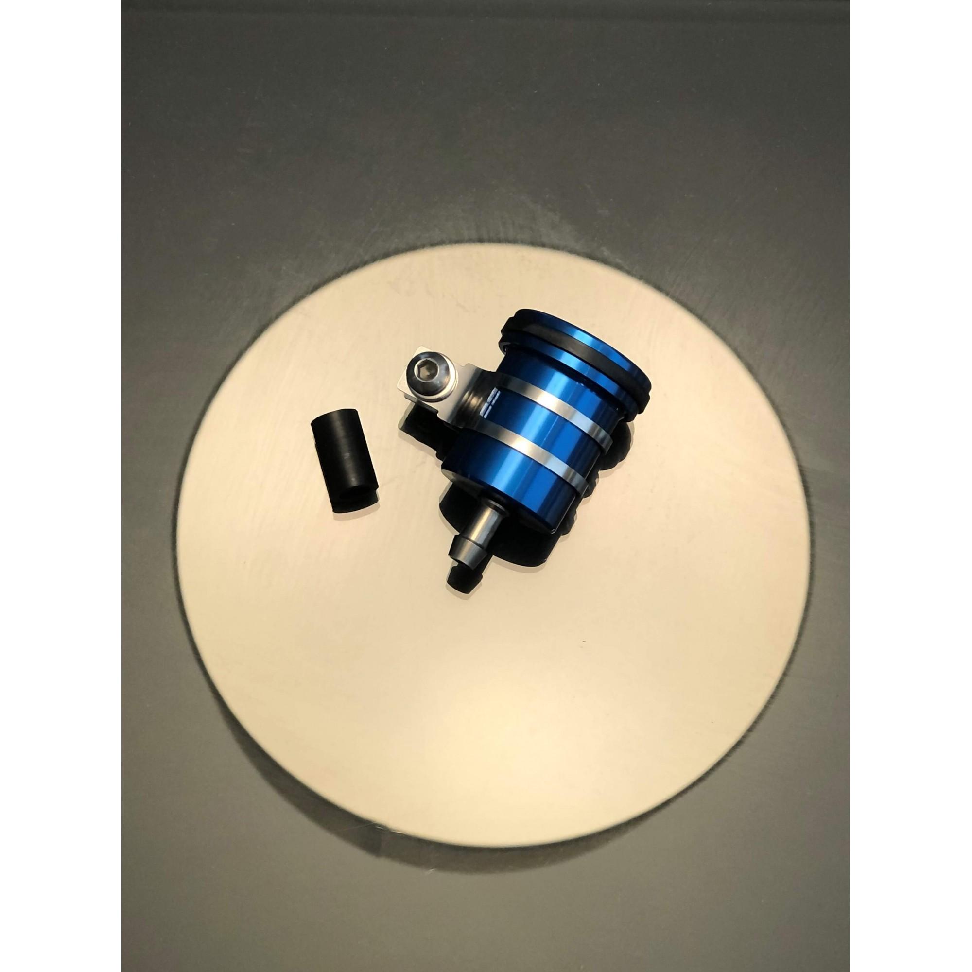Reservatório de fluído de freio sem visor saída por baixo Azul