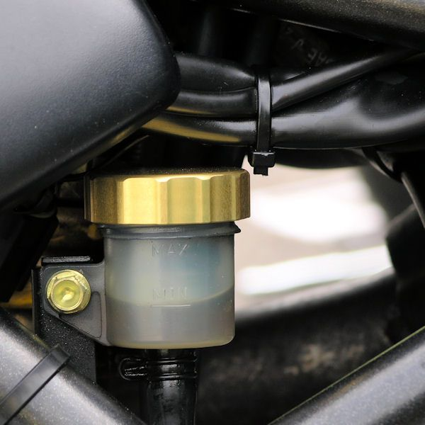 Tampa de reservatório de fluído de freio 42mm Redonda Laranja