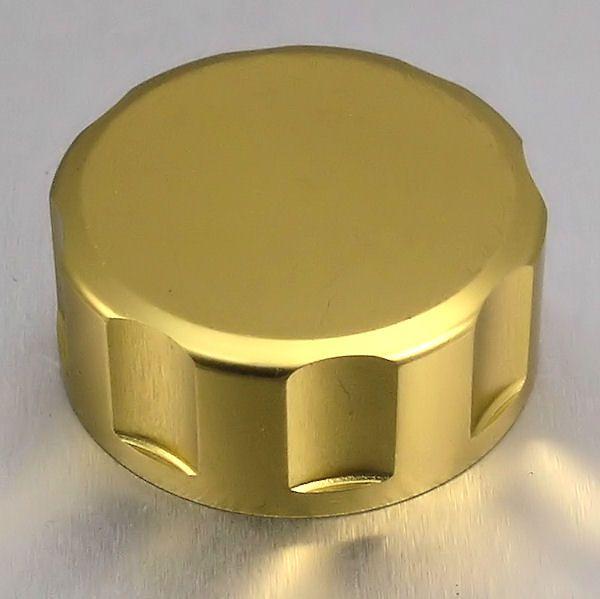 Tampa de reservatório de fluído de freio 61mm Redonda Dourado