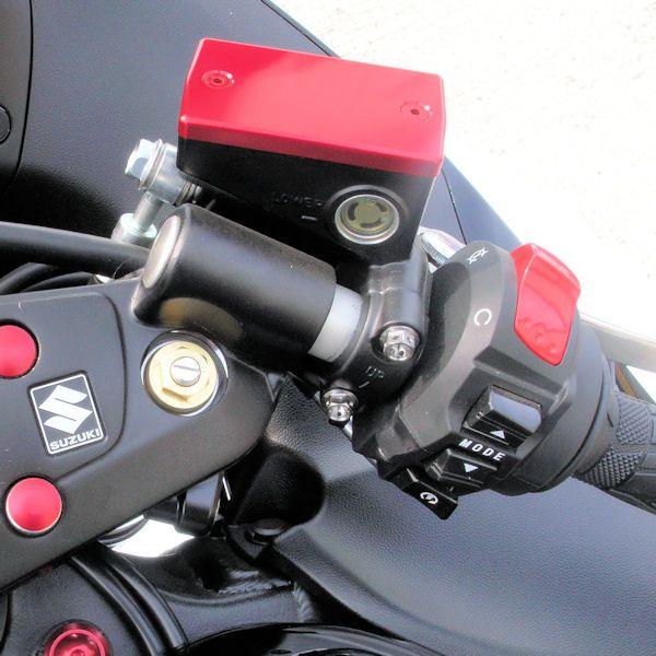 Tampa de reservatório de fluído de freio retangular HORNET Vermelha