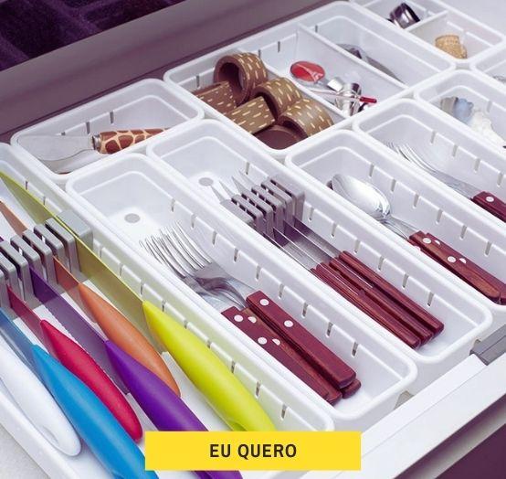 organizador de gaveta modular plasútil