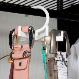 Cabide Porta Cintos Giratório 6 Ganchos