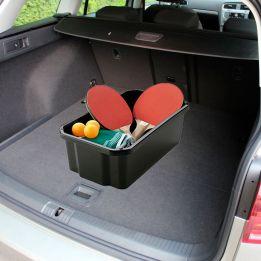 Caixa Organizadora Empilhável Preta para Carro