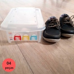 Caixa para Sapatos Empilhável Infantil 4 pçs