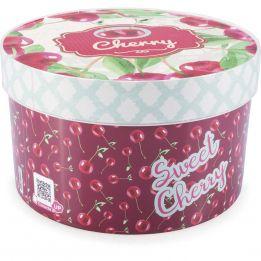 Caixa Redonda Cozinha Retrô Cherry 2,7L