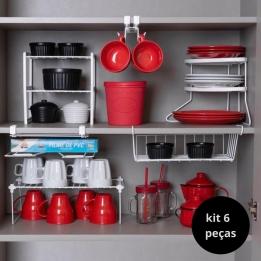 Kit 6 Organizadores de Cozinha Aramados