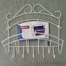 Porta Chaves e Cartas de Parede 5 Ganchos