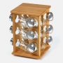 Porta Temperos Giratório em Bambu 13 peças