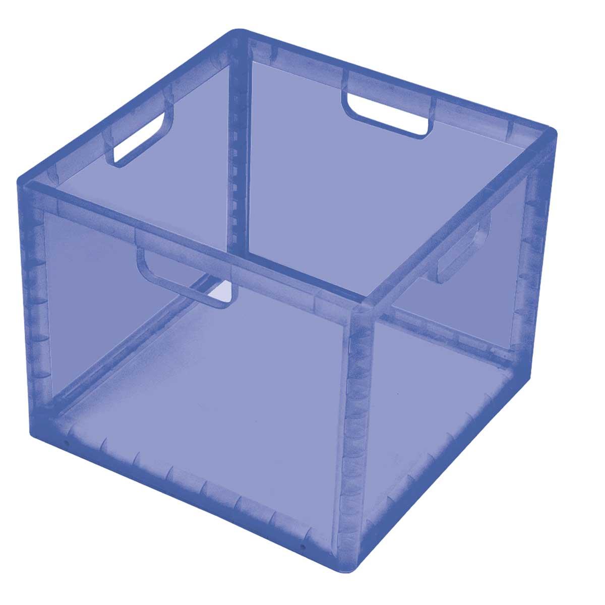 Caixa Organizadora Empilhável Alta Azul