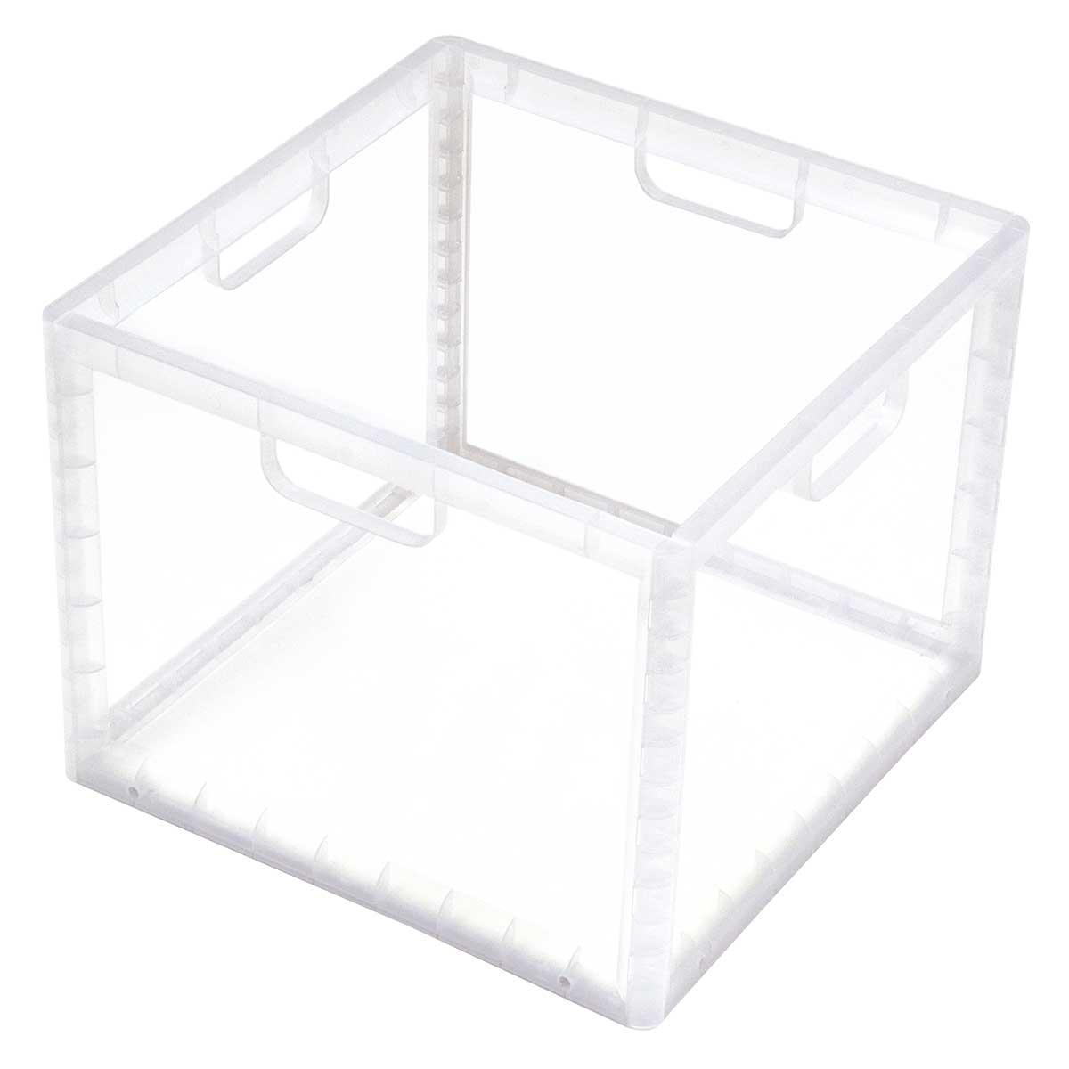 Caixa Organizadora Empilhável Alta Transparente