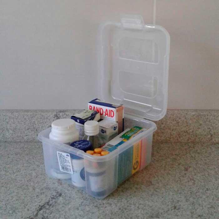 Caixa Organizadora Pequena com Tampa Articulável 1,7 L