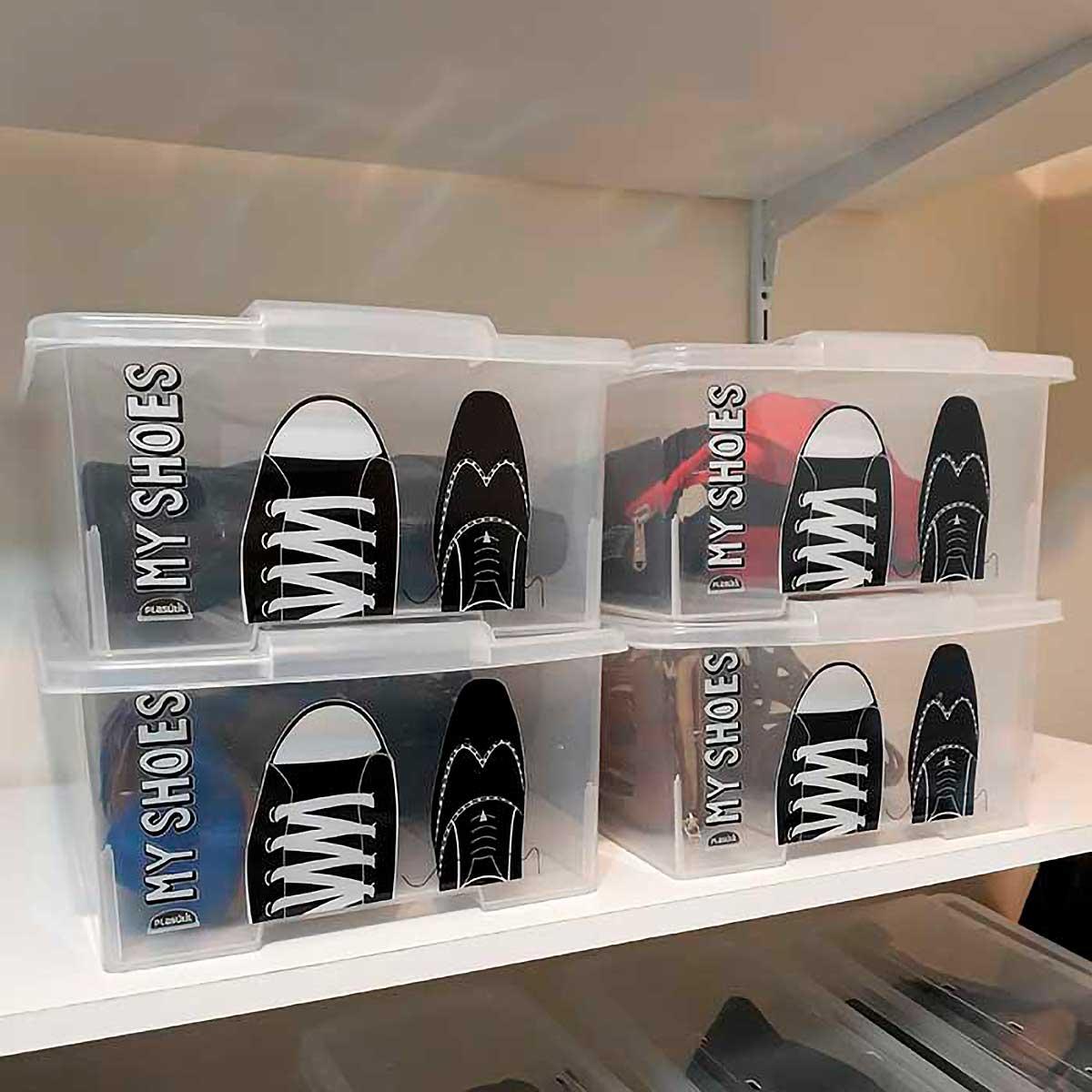 Caixa para Sapatos Empilhável Grande