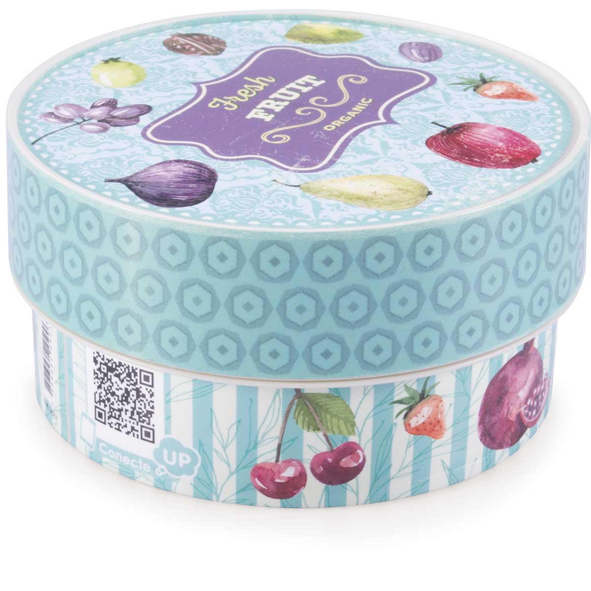 Caixa Decorada Cozinha Retrô Fresh Fruit 420ml