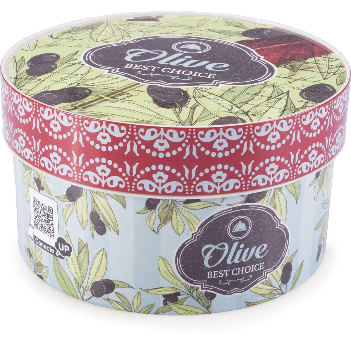 Caixa Decorada Cozinha Retrô Olive 1,2L