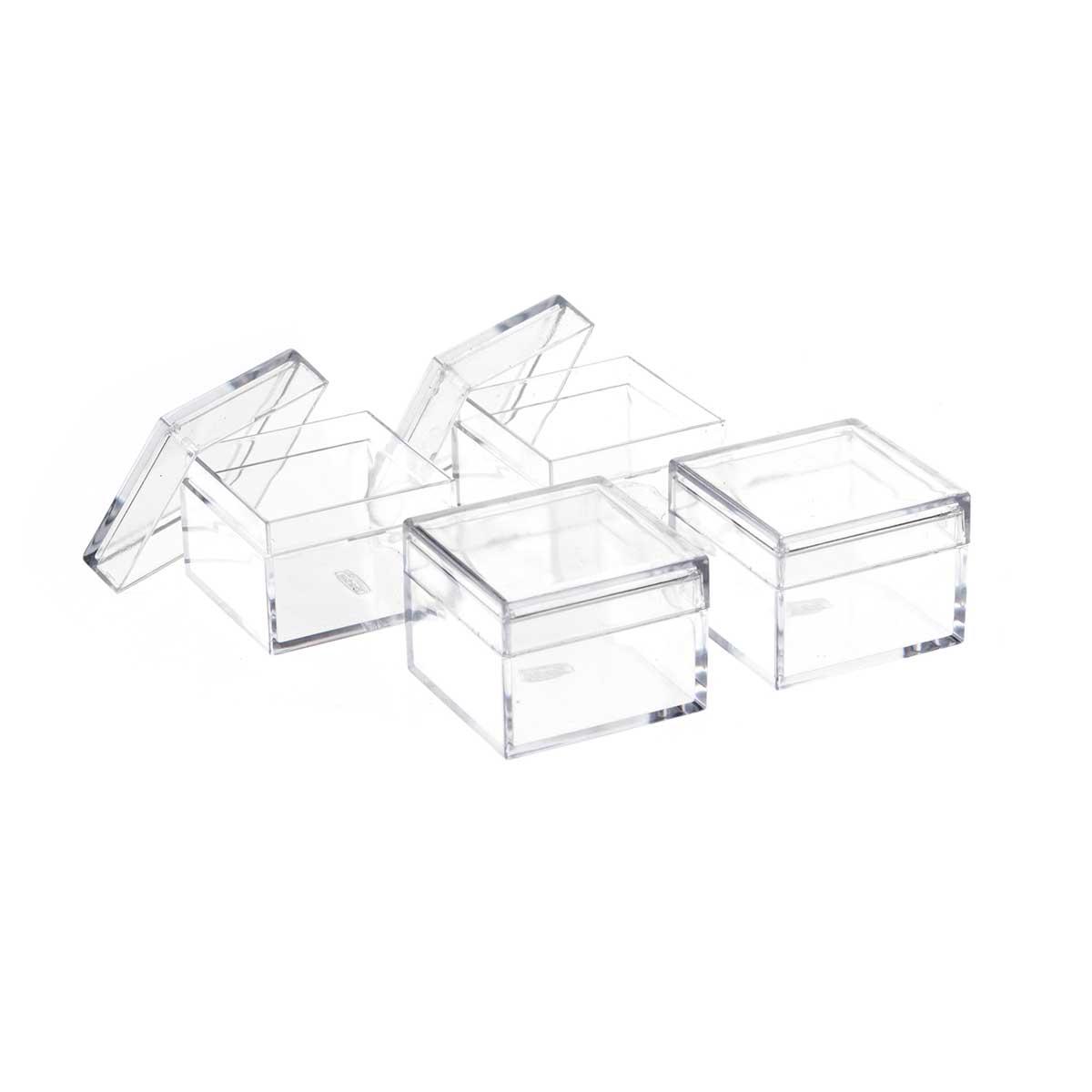 Caixinhas de Acrílico Transparente 4 Peças