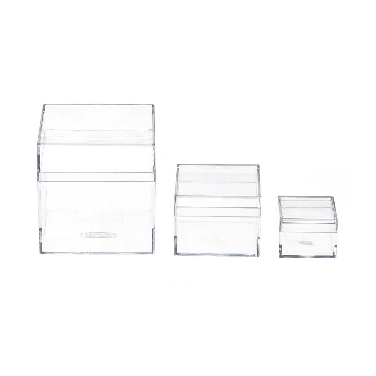 Caixinhas de Acrílico Transparente Kit 3 Tamanhos