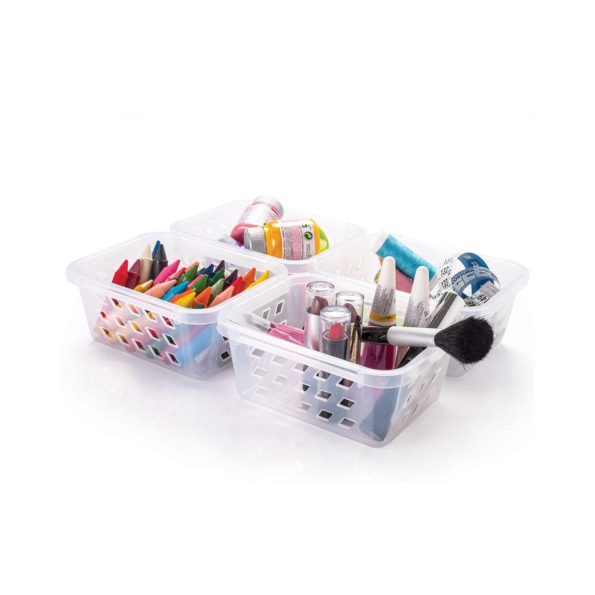 Cesto Organizador Plástico Pequeno Kit 6 pçs