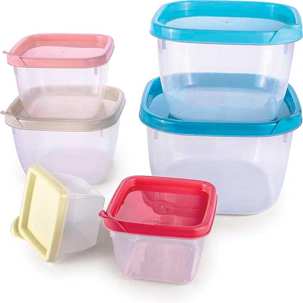 Conjunto de Potes Plásticos Conect 06 peças