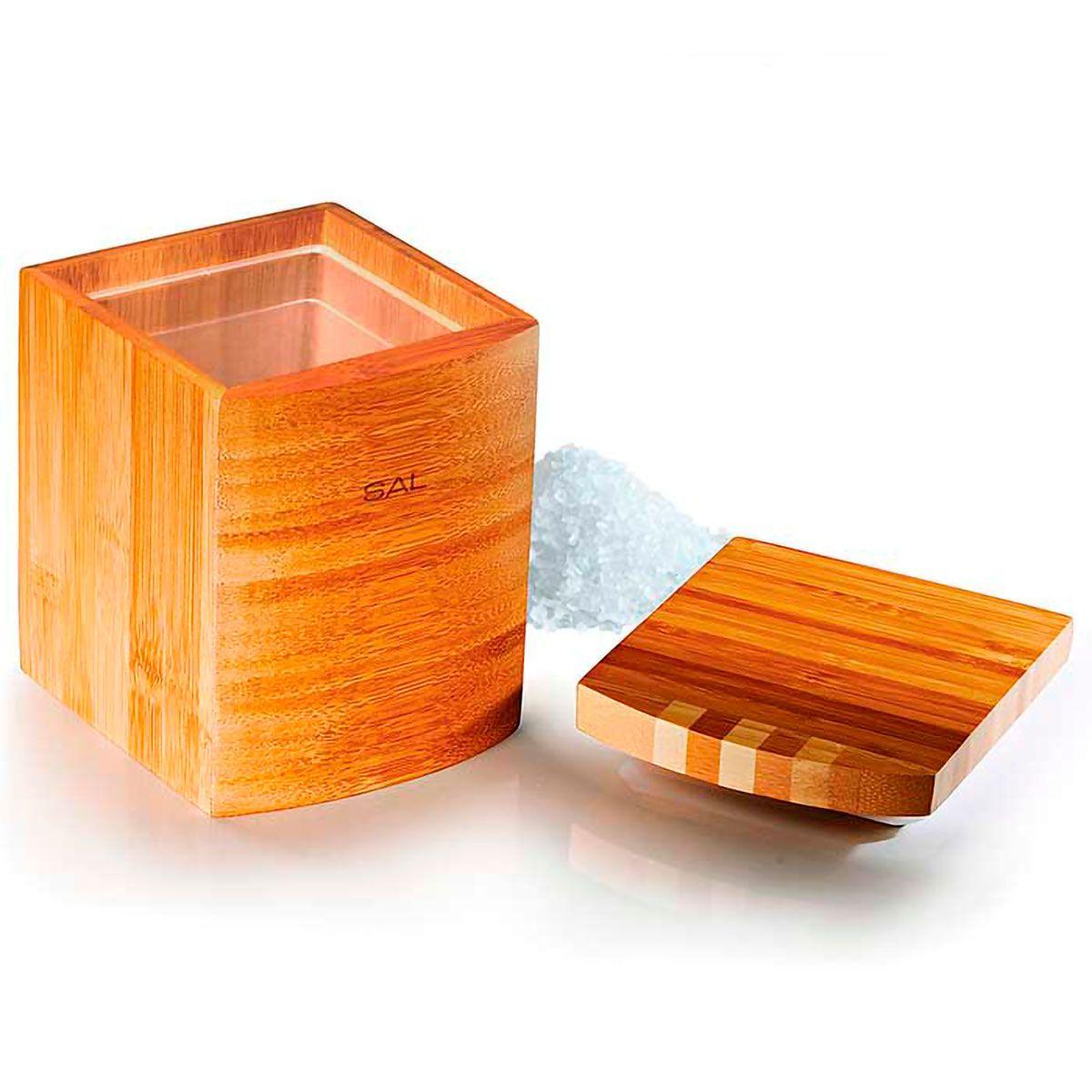 Porta Mantimentos em Bambu Jogo 4 pç