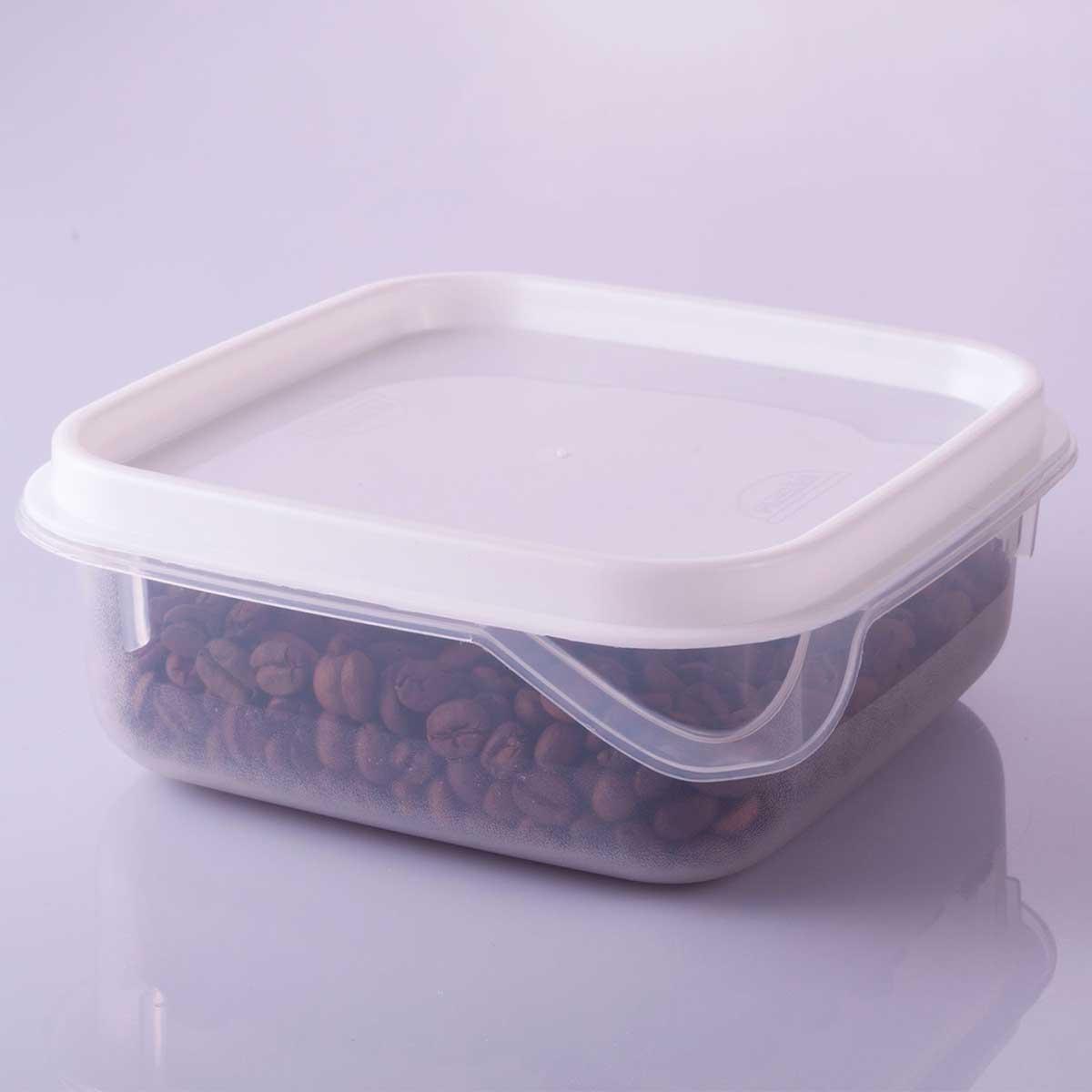 Conjunto de Potes Quadrados Antibactéria 6 pç
