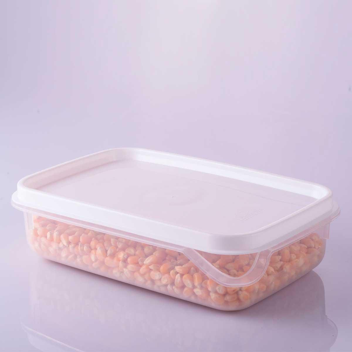 Conjunto de Potes Retangular Antibactéria 6 peças