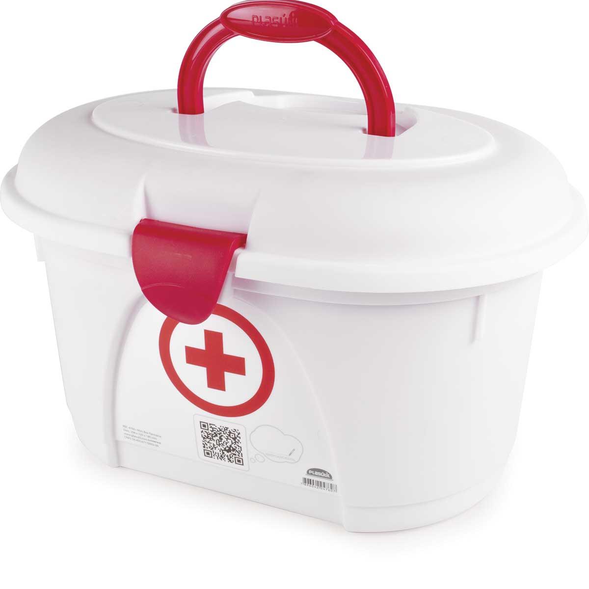 Kit 4 Caixas Organizadoras Empilháveis + Maleta Medicamentos