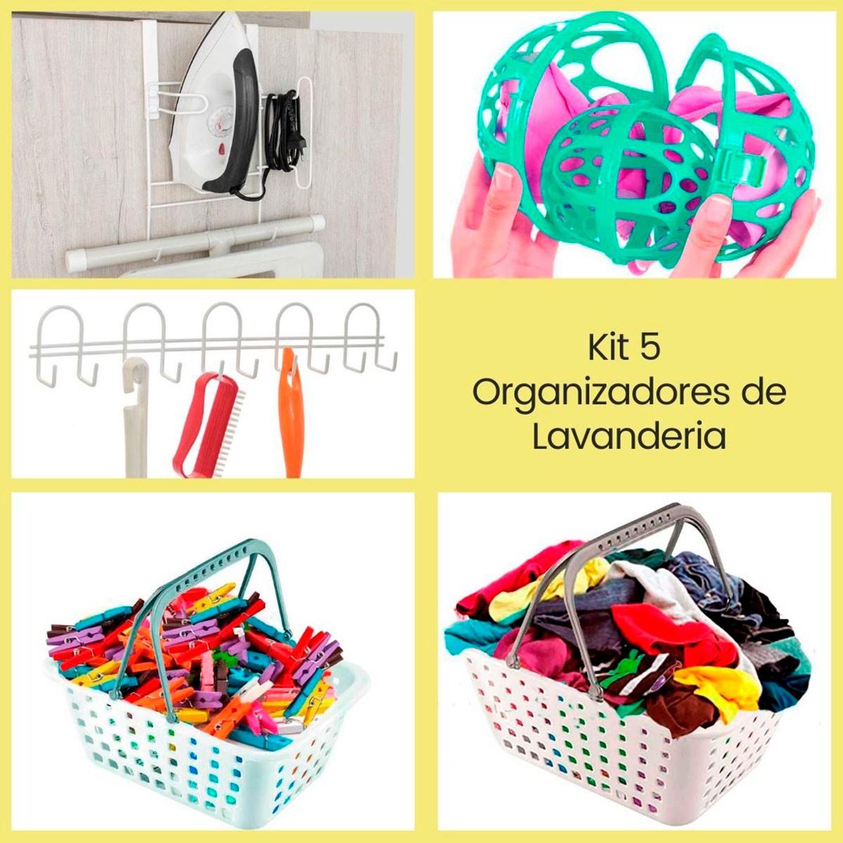 Kit 5 Organizadores de Lavanderia