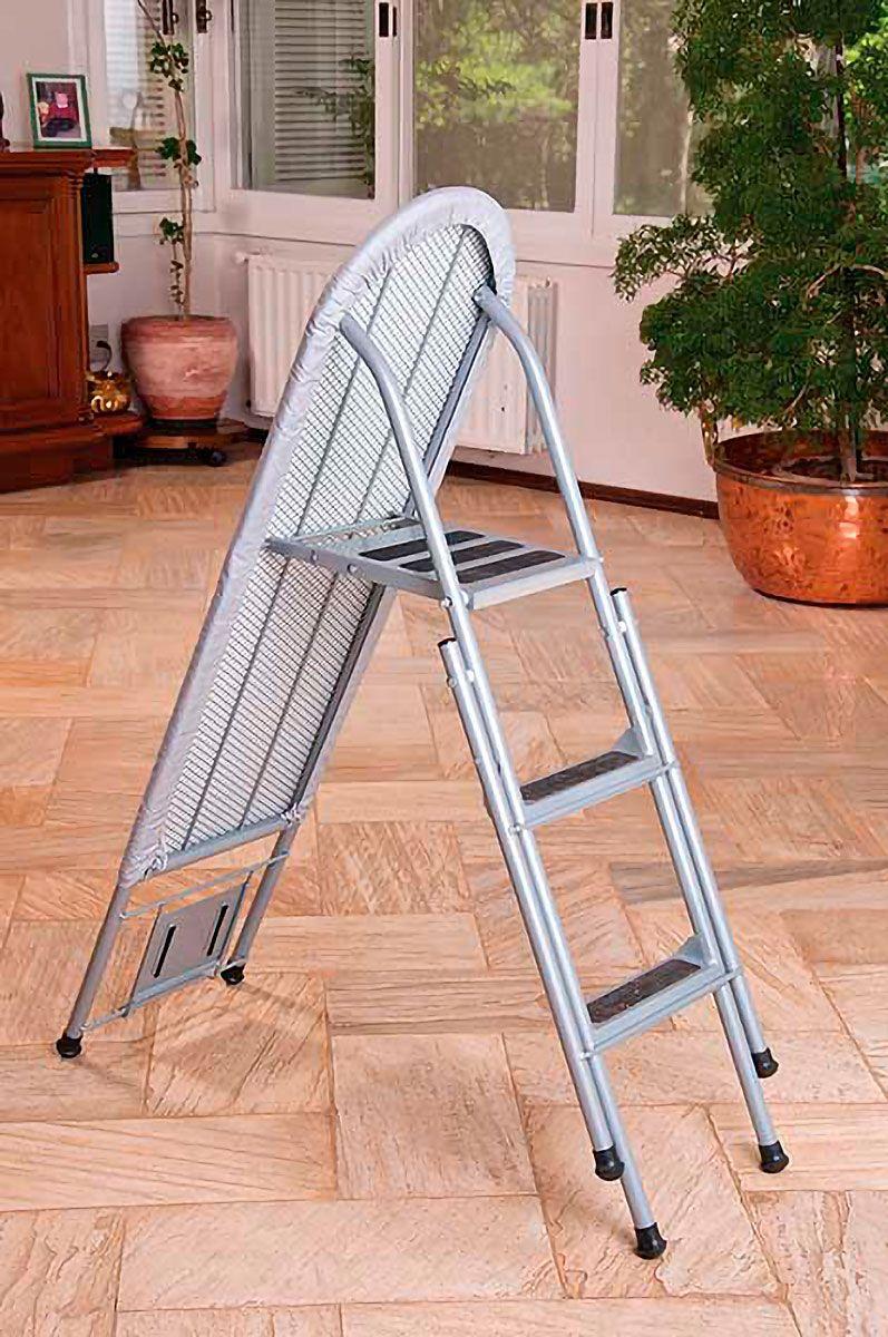Tábua de Passar Roupas com Escada em Aço