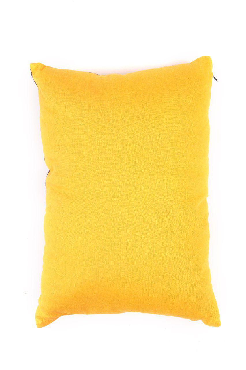 Almofada Pequena Azul e Amarela