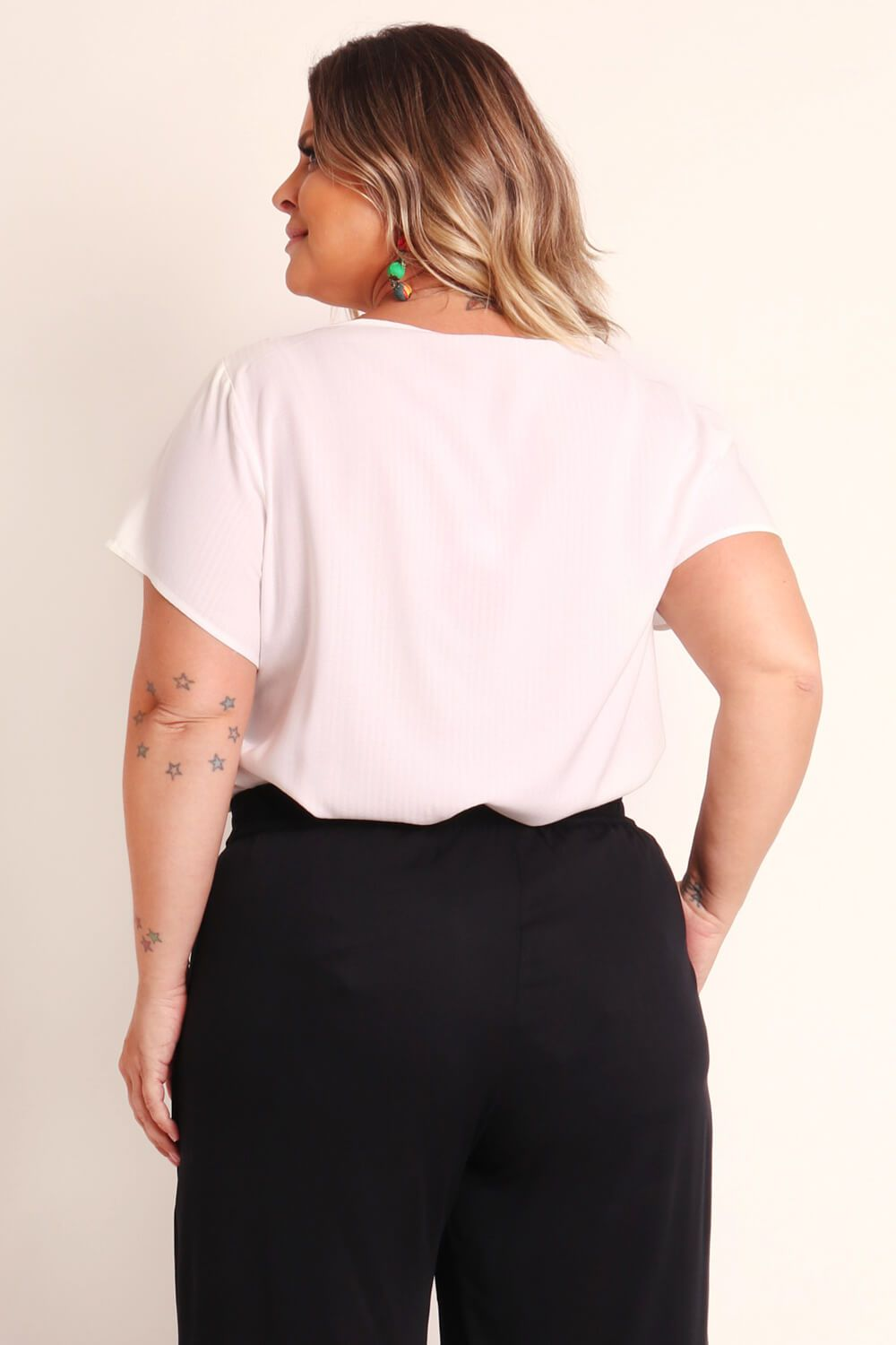 BATA PLUS SIZE LISA BRANCA