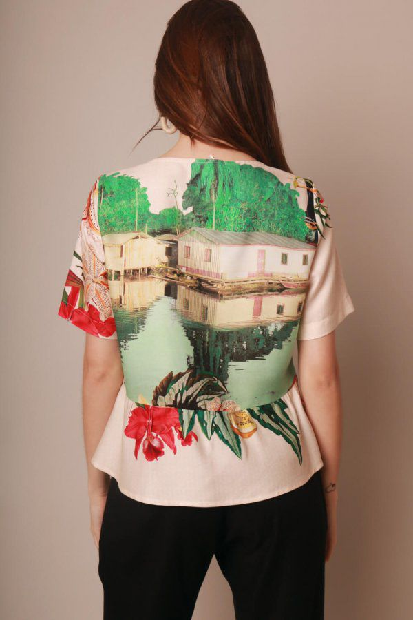 BLUSA ESTAMPADA VILAREJO OFF WHITE