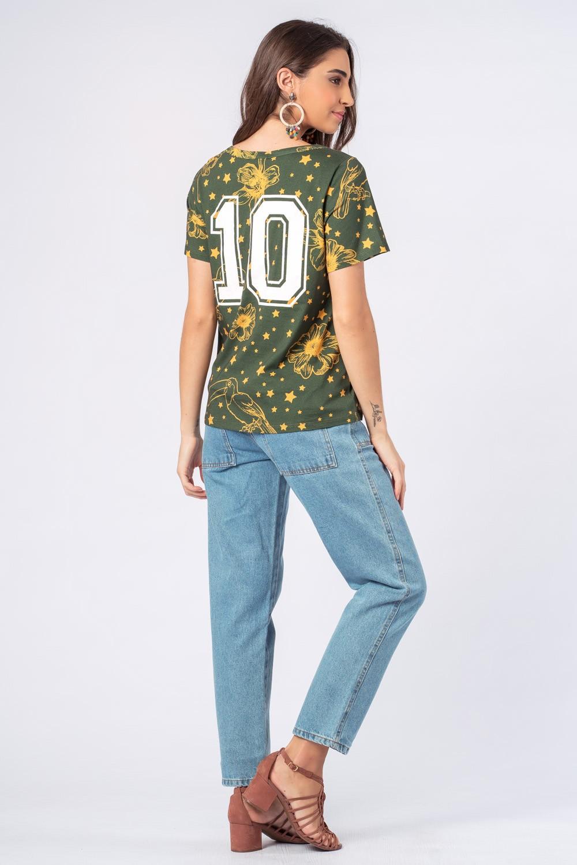 Blusa  Estrela Coleção Time Munny 10 Verde