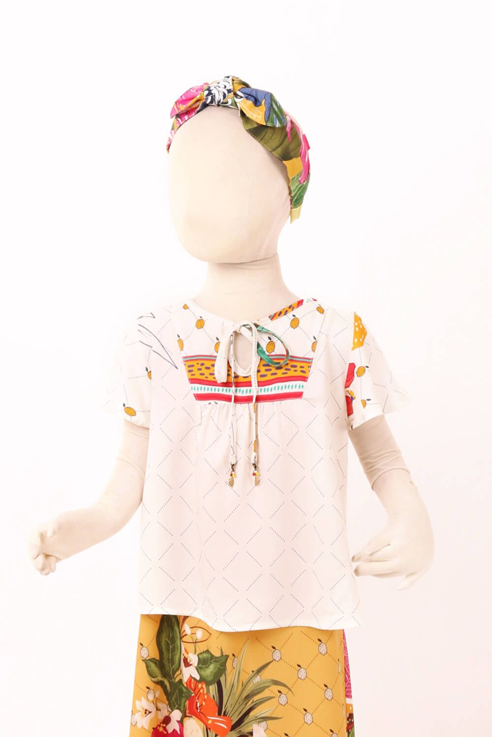 BLUSA INFANTIL ESTAMPADA QUITANDA OFF WHITE