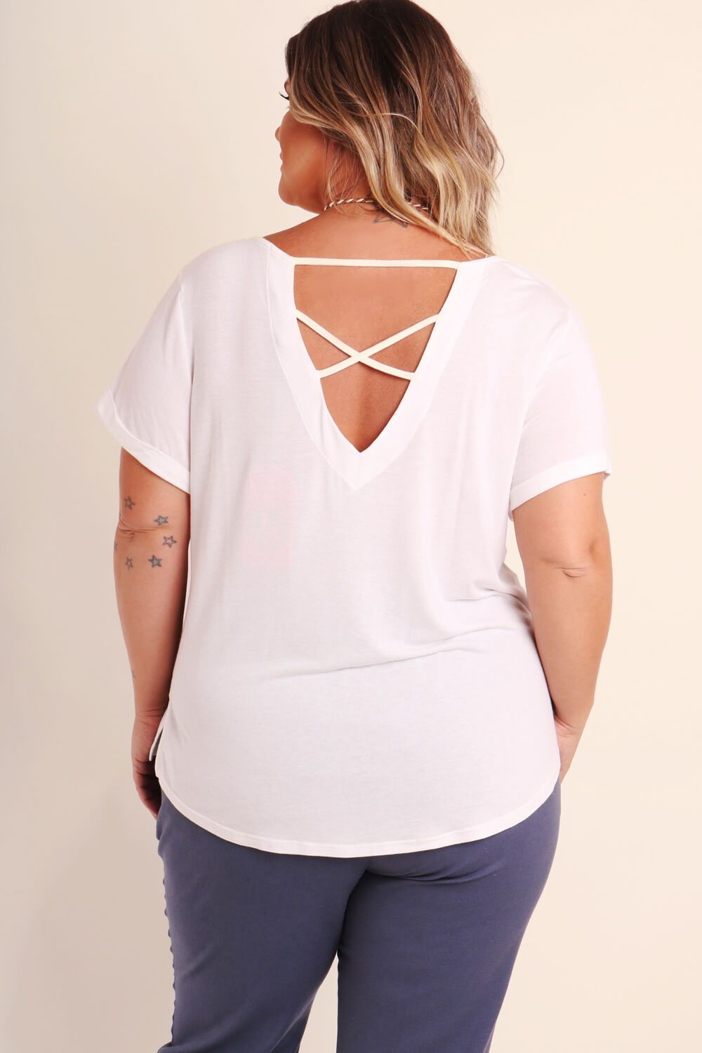 BLUSA KIT PLUS SIZE BRANCA
