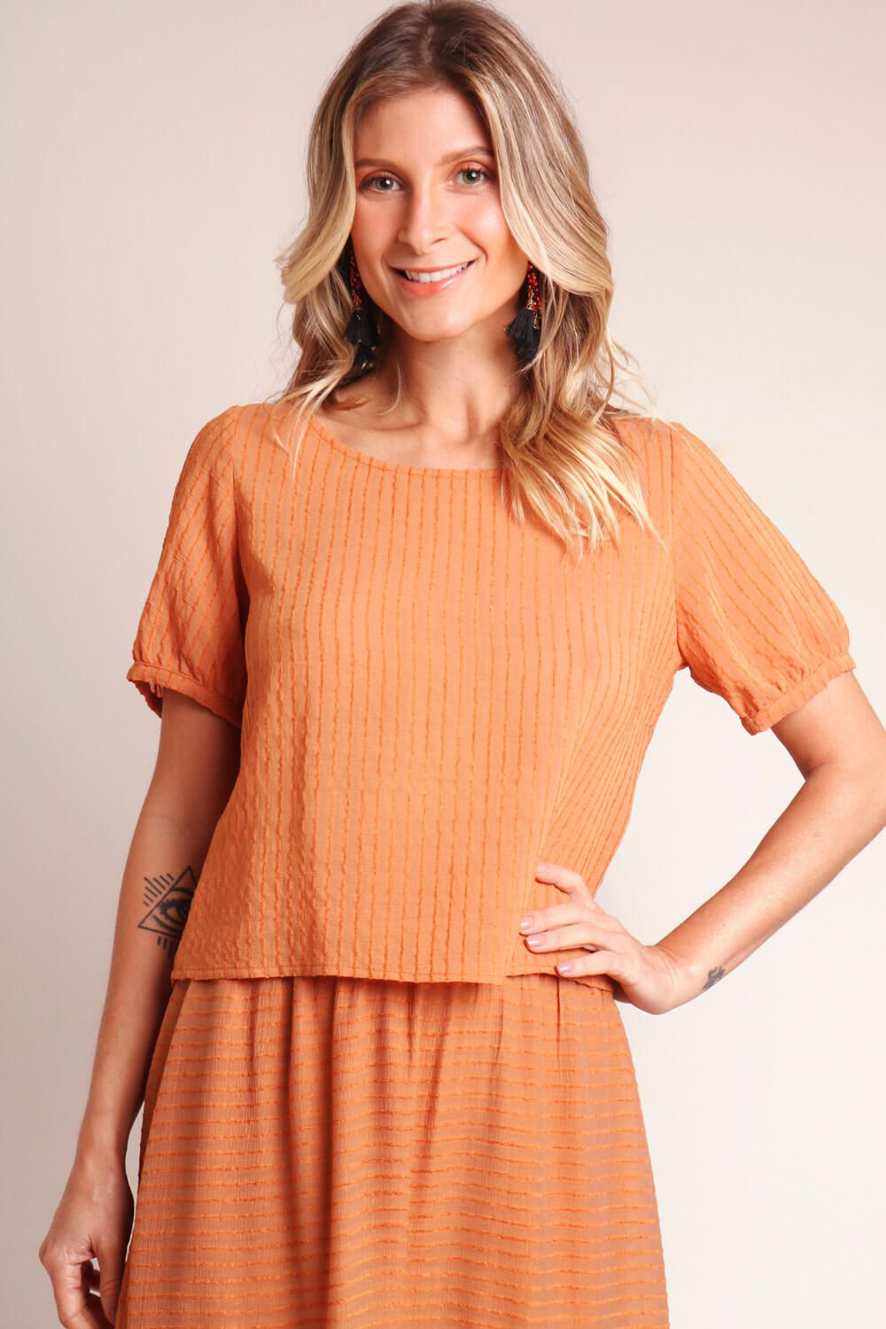 BLUSA LISA TERRACOTA