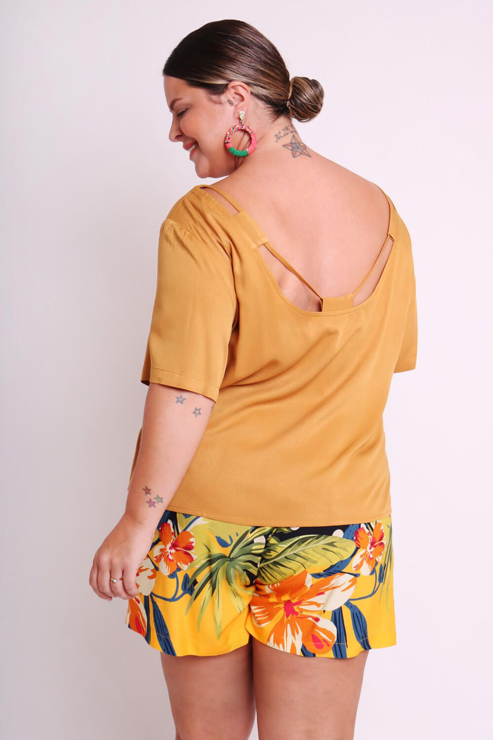 BLUSA PLUS SIZE LISA TERRACOTA