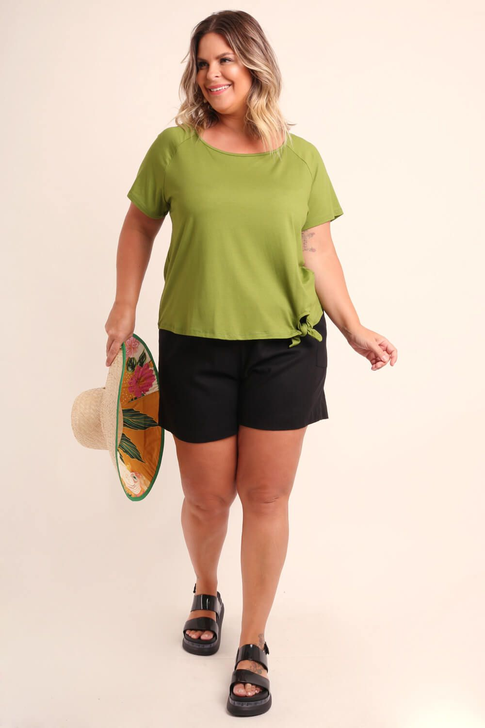 BLUSA PLUS SIZE LISA VERDE