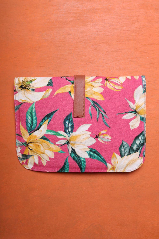 Bolsa Clutch Estampada Rosa