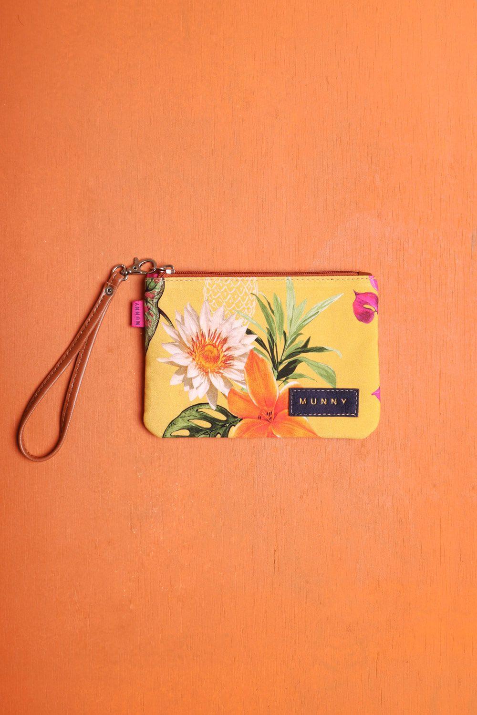 Bolsa de mão com Alça Estampada Margarida Amarela